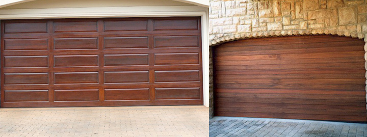 meranti wood garage doors